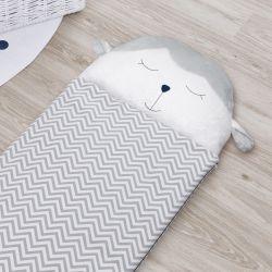 Saco de Dormir Infantil Amiguinho Carneirinho Azul Marinho 1,40m