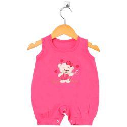 Macacão Curto Ursinha Pink