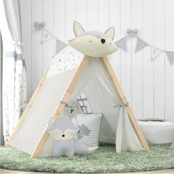 Cabana Quarto de Bebê Raposinha Cinza