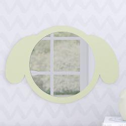 Espelho Redondo Amiguinho Cachorrinho Verde 30cm