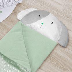 Saco de Dormir Infantil Amiguinho Cachorrinho Verde 1,40m