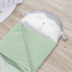 Saco de Dormir Infantil Amiguinho Carneirinho Verde 1,40m