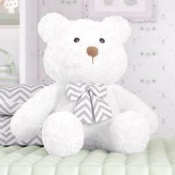 Urso com Laço Chevron 52cm