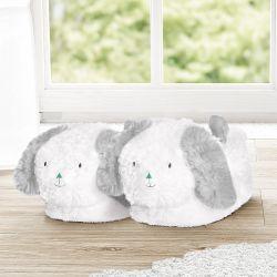 Pantufa Infantil de Pelúcia Amiguinho Cachorrinho Verde