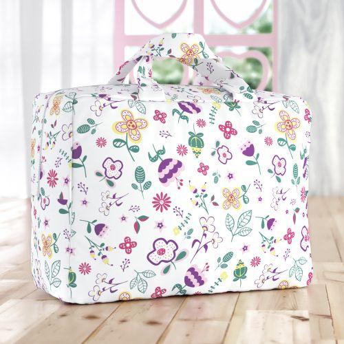 Bolsa de Tecido Infantil Floral Moderna