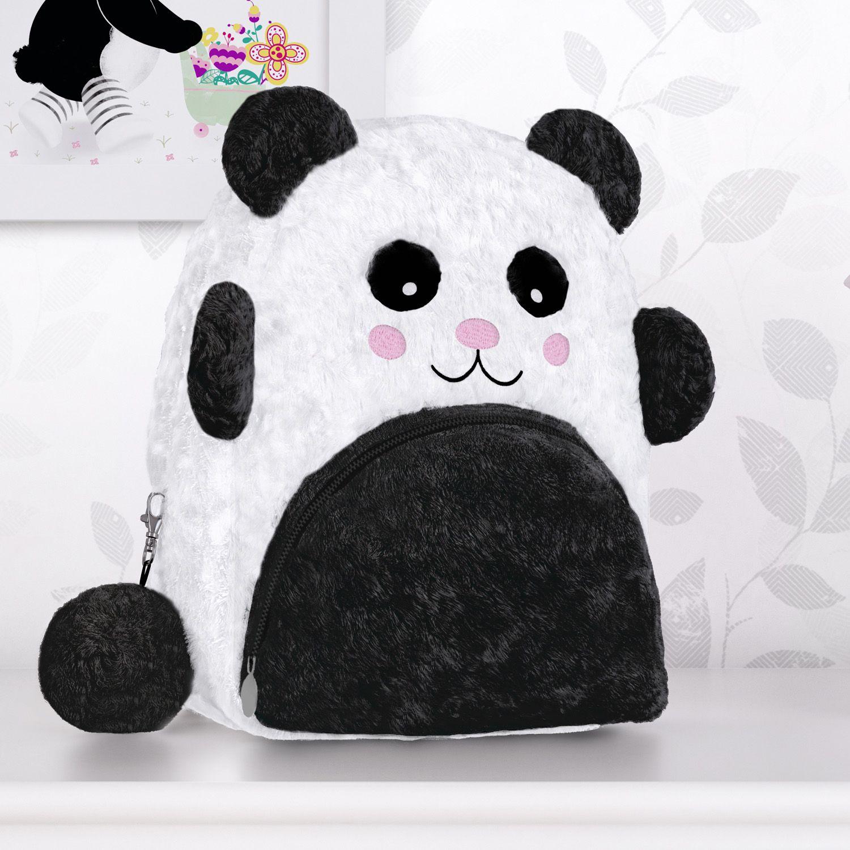 Mochila Infantil Urso Panda 23cm Grao De Gente