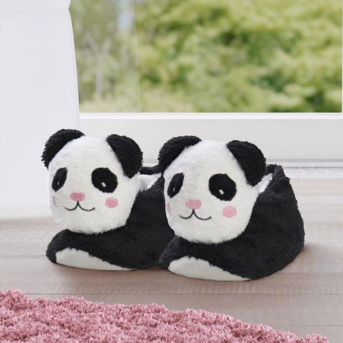 Pantufa Infantil de Pelúcia Urso Panda 4 a 6 Anos