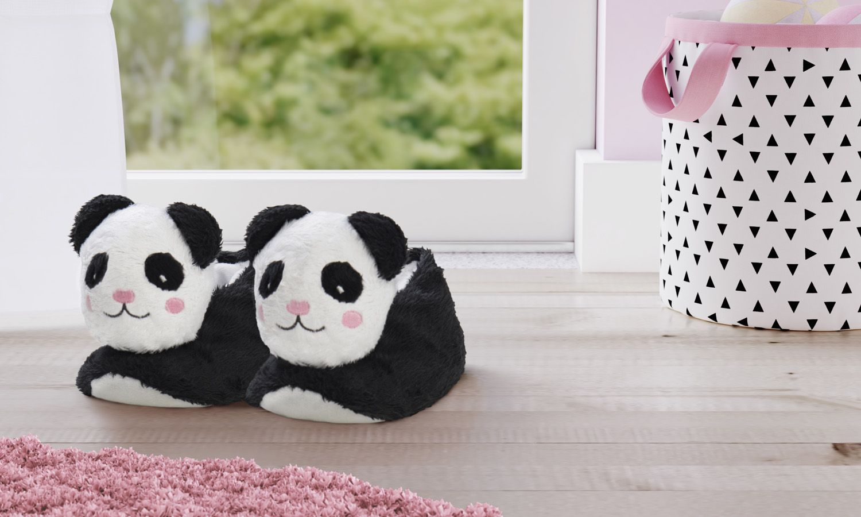 Pantufa Infantil De Pelucia Urso Panda 4 A 6 Anos Grao De Gente