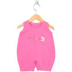 Macacão Curto Lacinho Floral Pink Tam P