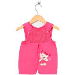 Macacão Curto Banho de Sol Ursinha Lilly Pink