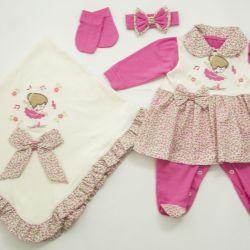 Saída Maternidade Vestido Bailarina Pink