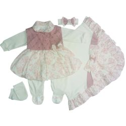 Saída Maternidade Vestido Aconchego Floral