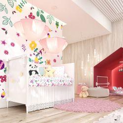 Quarto de Bebê Floral Moderna