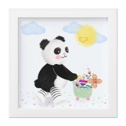 Quadro Urso Panda no Jardim