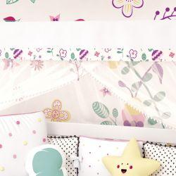 Mosquiteiro Pompom Floral Moderna