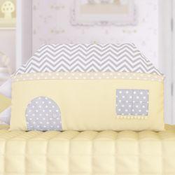 Mini Cabeceira Infantil Casinha Amiguinhos Amarelo