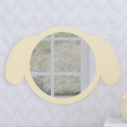 Espelho Redondo Amiguinho Cachorrinho Amarelo 30cm