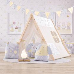 Cabana Quarto Infantil Amiguinhos Amarelo