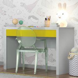 Escrivaninha Twister Neve/Amarelo