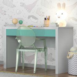 Escrivaninha Twister Neve/Azul Tiffany