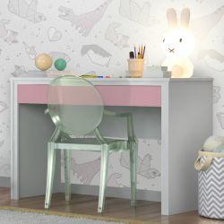 Escrivaninha Twister Neve/Rosa
