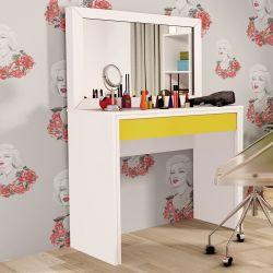 Penteadeira com Espelho Twister Amarelo