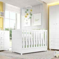 Quarto de Bebê Premier com Berço/Cômoda/Guarda-Roupa de 3 Portas