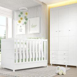 Quarto de Bebê Premier com Berço/Guarda-Roupa de 3 Portas