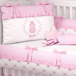 Kit Berço Ursinha Clássica Rosa