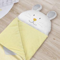 Saco de Dormir Infantil Amiguinho Coelhinho Amarelo 1,40m