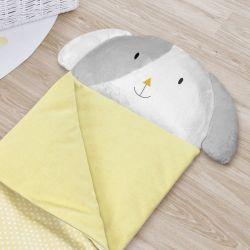 Saco de Dormir Infantil Amiguinho Cachorrinho Amarelo 1,40m