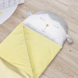 Saco de Dormir Infantil Amiguinho Carneirinho Amarelo 1,40m