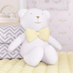 Urso com Gravata Amarela 42cm