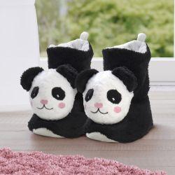 Pantufa Bebê de Pelúcia Cano Alto Urso Panda