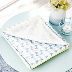 Cobertor Soft Estampa Triângulo Azul
