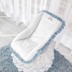 Capa para Bebê Conforto Arco-Íris Azul