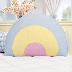 Almofada Formato Arco-Íris Azul 43cm
