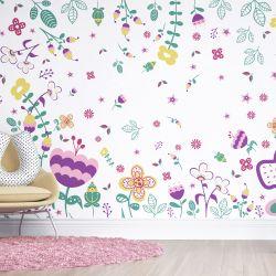 Papel de Parede Floral Moderna 2m