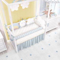 Quarto de Bebê Amiguinhos Unicórnio Azul