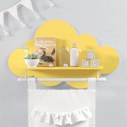 Prateleira Nuvem com Varão Amarela