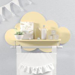 Prateleira Nuvem com Varão Amarela Bebê