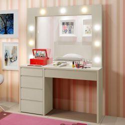 Penteadeira Infantil Camarim com Espelho Berlim Plus Off White