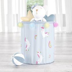 Cesto Organizador para Brinquedos Amiguinhos Unicórnio 42cm