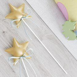 Varinha Mágica Estrelinha Dourada/Azul 36cm 1 Peça