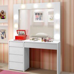 Penteadeira Infantil Camarim com Espelho Berlim Plus Branca