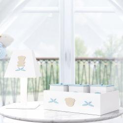 Kit Acessórios Urso Luxo Azul