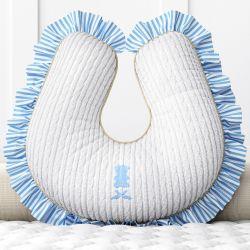 Almofada Amamentação Urso Tricot Luxo Azul