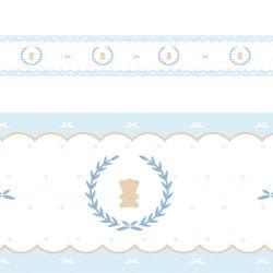 Faixa Adesiva de Parede Urso Luxo Azul