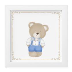 Quadro Urso Luxo Azul
