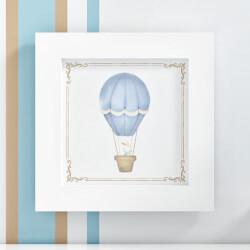 Quadro Coelho no Balão Azul 20cm